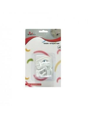מגיני שקעים מונע מהילדים להכניס אצבעות או חפצים לתוך השקעים 8 יחידות באריזה