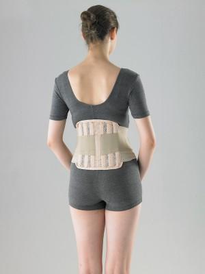 חגורת גב עם מתיחה ותמיכה באיזור הגב התחתון והמותניים