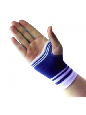 גרב לחץ אלסטית לשורש כף היד כחול לבן