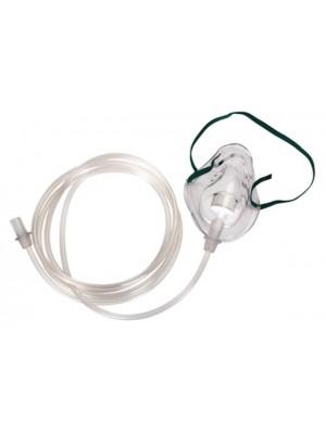 מסכת חמצן למבוגר או לילד עם צינור חמצן 2 מטר