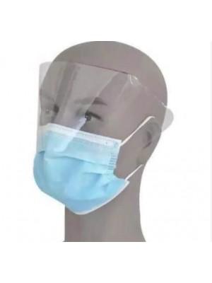 מסכה רפואית לולאות גומי עם מגן עיניים