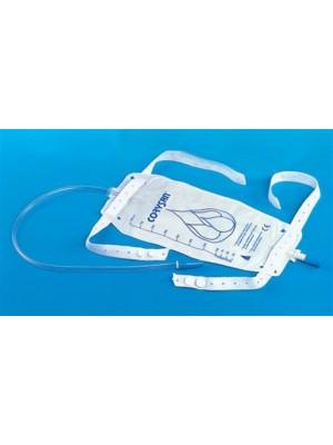שקיות שתן עם צינור רצועות נקשרות לברך וברז ריקון